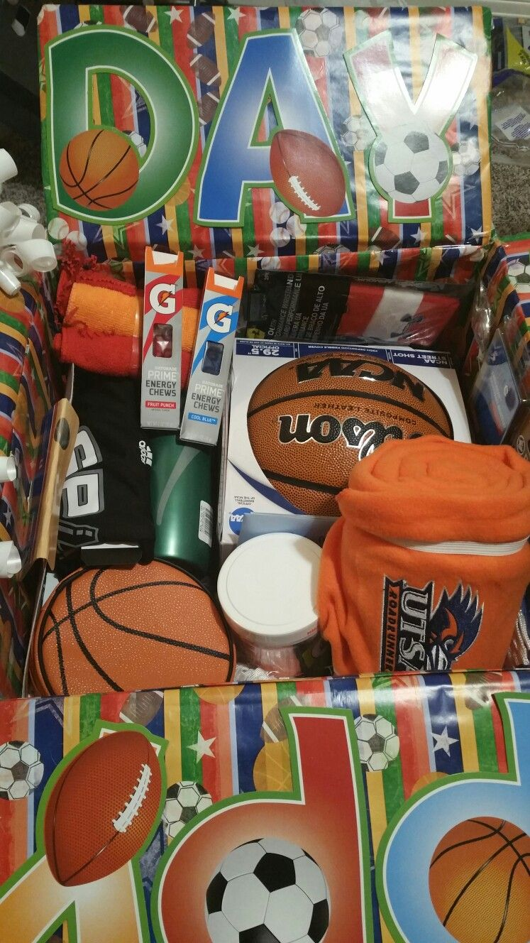 Happy Birthday Basketball Care Package Cute Gifts For Your Boyfriend Ideas