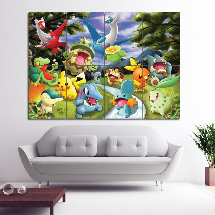 Pokemon Cartoon Block Giant Wall Art Poster (P 0988)This Poster Is An
