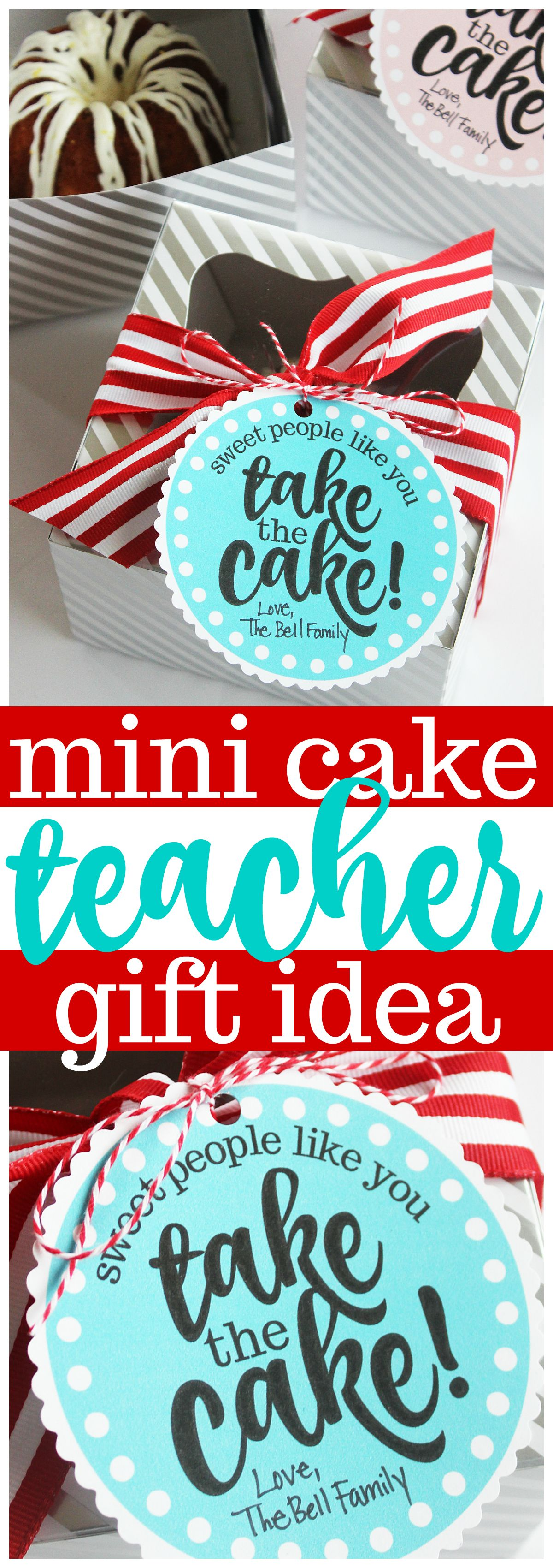 Miniature cake teacher appreciation gift free printable tags negle Choice Image