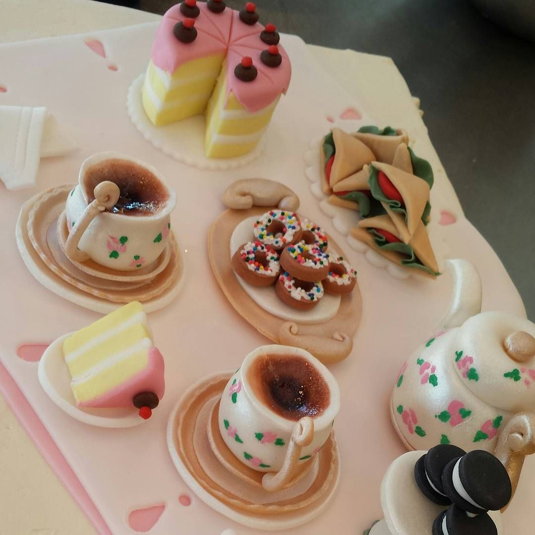 Tea Party Birthday Cake Bakery Cafe Birthday Cake Kids Bakery