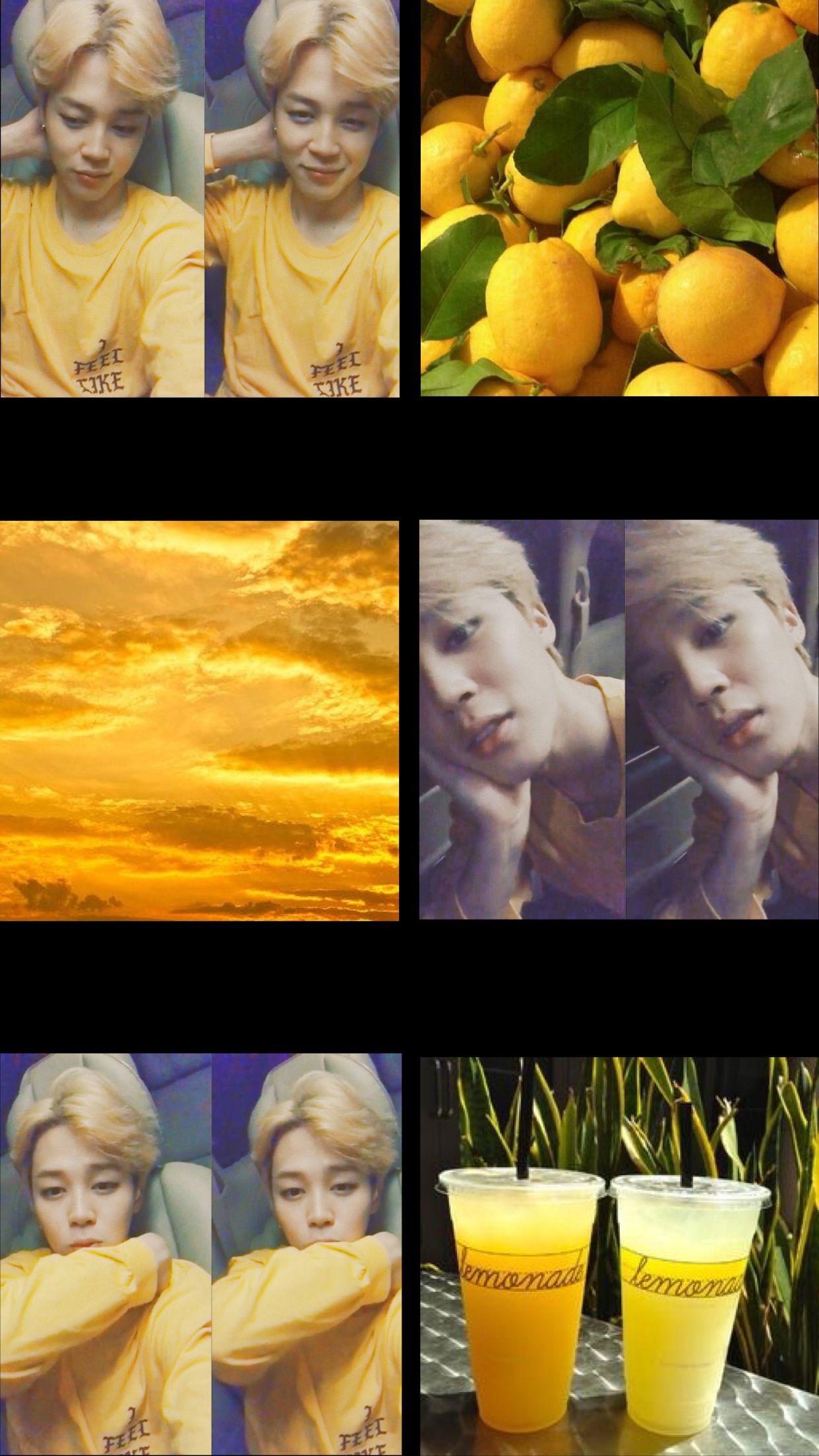 Bts Jimin Wallpaper Edit Yellow Aesthetic Kpop At Luxuxiwoo
