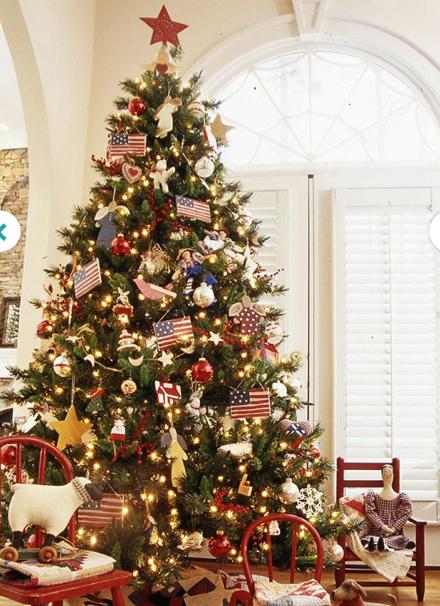 Tree Trimming Creative Christmas Trees Christmas Tree Pictures Patriotic Christmas Tree