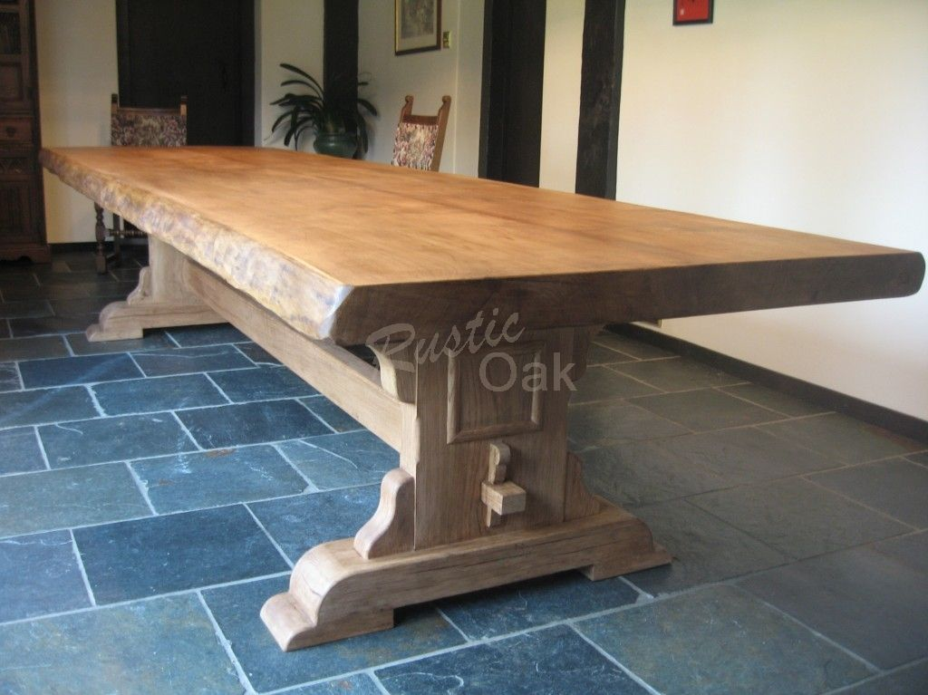 Rustic furniture. http   www rusticoak co uk product waney edged refectory dining