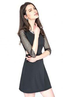 Crochet Splicing 3/4 Sleeve Dress