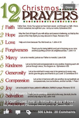 12 Days Of Christmas Christmas Prayer 12 Christmas Christmas Traditions