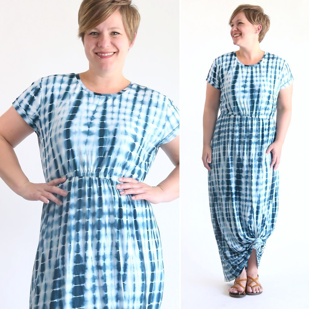 Learn how to make an easy maxi dress with cap sleeves using a free learn how to make an easy maxi dress with cap sleeves using a free tee shirt pattern how to sew a maxi dress jeuxipadfo Images