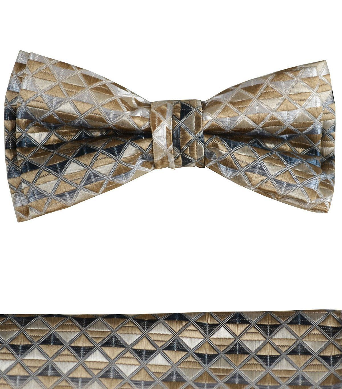 2c4fc853c762 Gold Brown Boys Bow Tie and Pocket Square Set, Pre-tied in 2019 ...