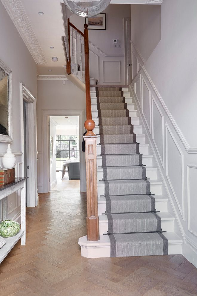 Carpet Runners For Stairs Staircase Traditional With Banister Entrance Hall Hallway Herringbone Pattern Sta Staircase Design Stair Runner Carpet House Entrance
