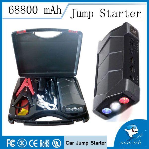 68800mAh 4 USB Car Jump Starter Emergency Charger Booster Power Bank