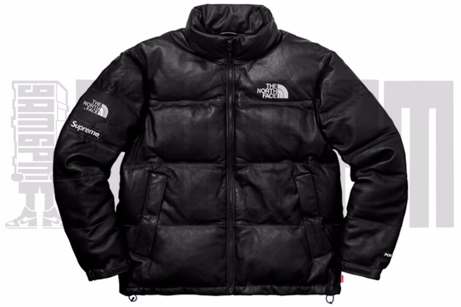 ... Supreme The North Face LEATHER NUPTSE JACKET L BLACK 700 tnf box logo  ds bogo ... 7481ebdb2
