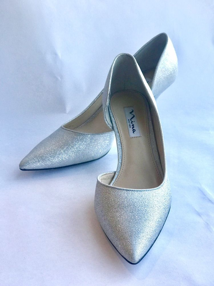 69ecf115590 Nina New York Silver Glitter Womens Heels Shoe Size 8.5 (EUR 38.5) BRAND  NEW  fashion  clothing  shoes  accessories  womensshoes  heels (ebay link)