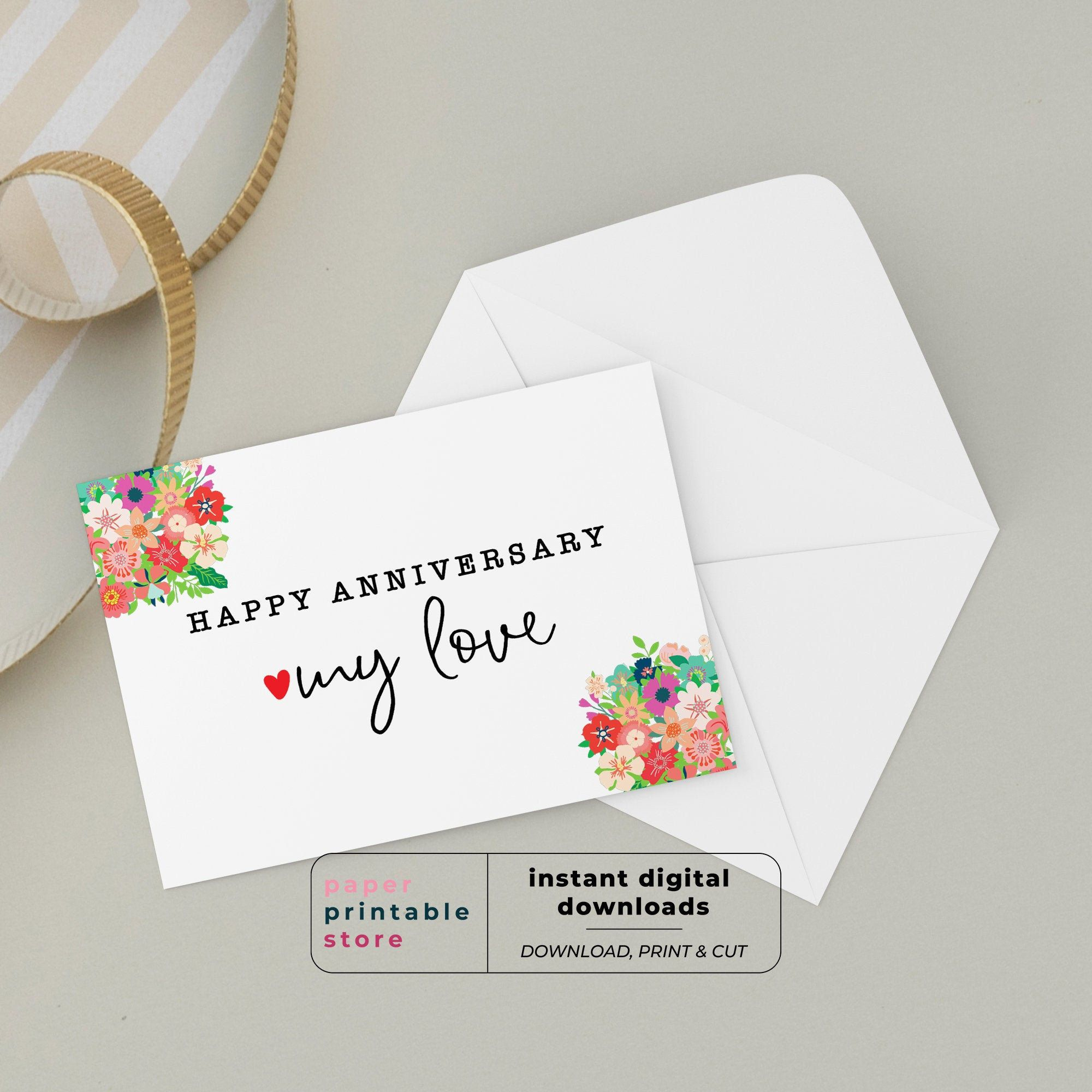 Excited To Share This Item From My Etsy Shop Anniversary Card Wedding Anniversary Card First Wedding Anniversary Cards Anniversary Cards First Anniversary
