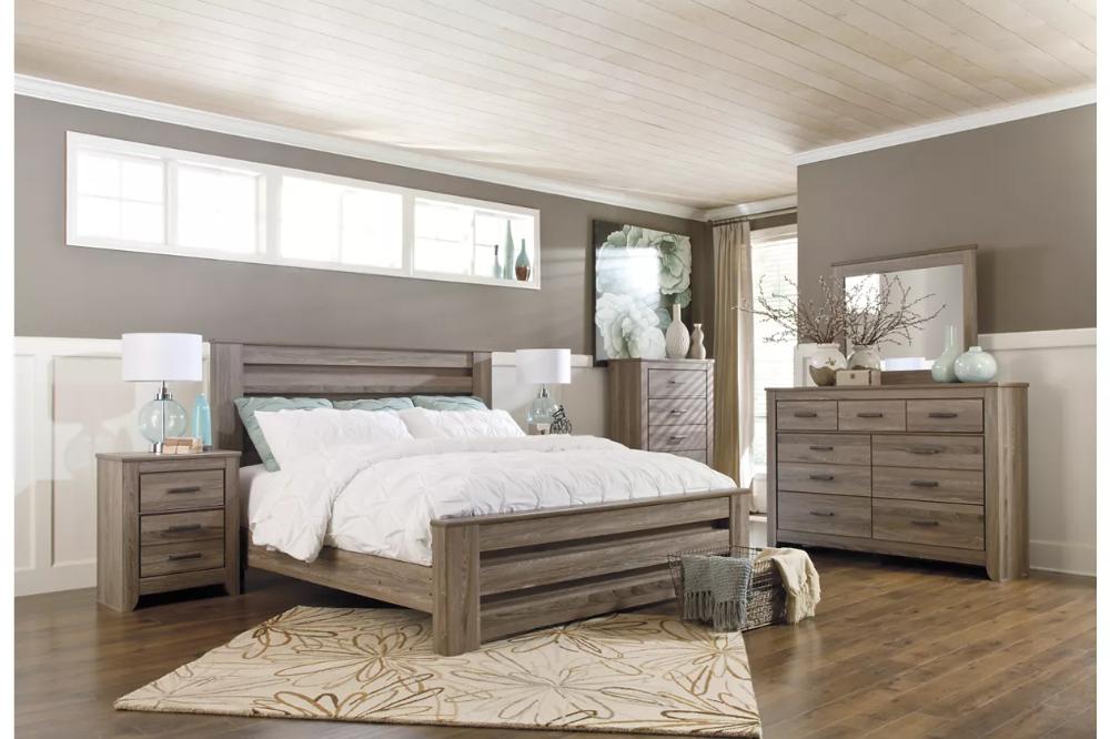 Zelen 6Piece Queen Bedroom Ashley Furniture HomeStore
