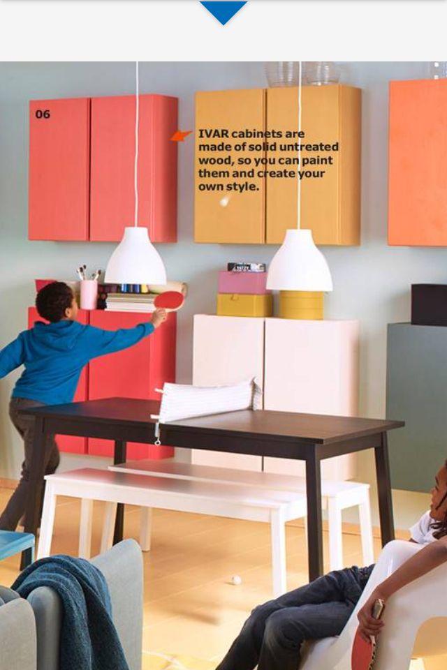 ivar cabinet from ikea light pink paper backing on ikea for storing craft supplies playroom. Black Bedroom Furniture Sets. Home Design Ideas