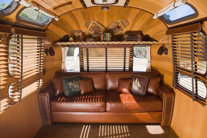 Airstream: Ralph Lauren Interior + Luxurious Comfort = Great Traveling!