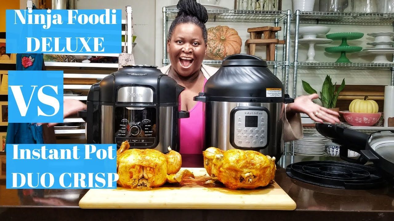 Ninja Foodi Deluxe Vs Instant Pot Duo Crisp Battle Roast Chicken Plu Instant Pot Instant Pot Recipes Seasoning Salt Recipe