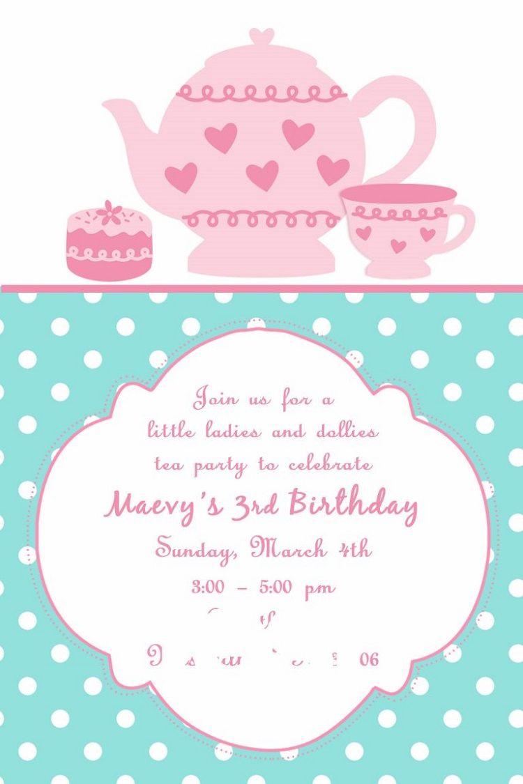 Diy Bridal Shower Tea Party Invitations Invitation Card