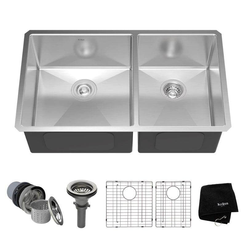 Kraus Khu103 33 Steel Kitchen Sink Stainless Steel Kitchen Sink