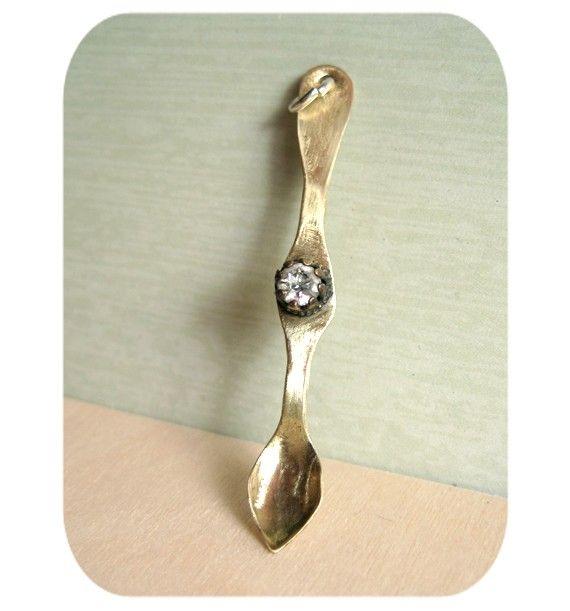 Vintage Snuff Spoon Pendant | jewels  | Spoon, Pendants