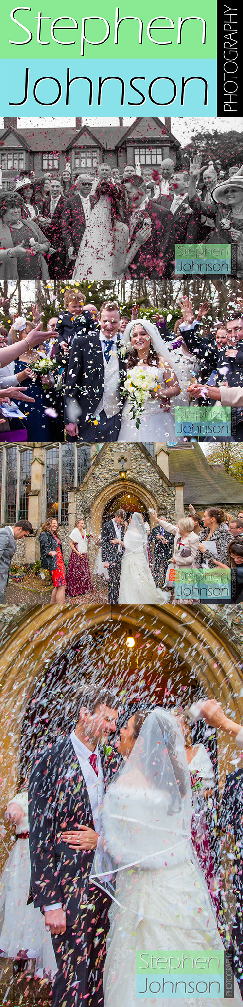 Some gorgeous examples of confetti shots www.stephenjohnsonphotography.com