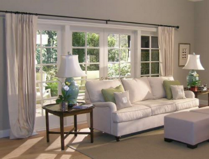 These Doors Are About The Size Of Our Living Room Windows And I Prefer This Style Drapery For Need To Find A Rod That Spans Full Length