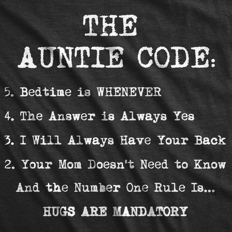 Funny Aunt Shirt, Gift For Aunt, Auntie Tees, Funny Shirt For Women, Aunt Shirt Funny, The Auntie Code Shirt, Cute gifts