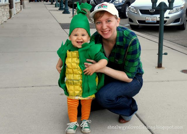 she always loved) larking a corny family DIY upcycled - family halloween costume ideas with baby
