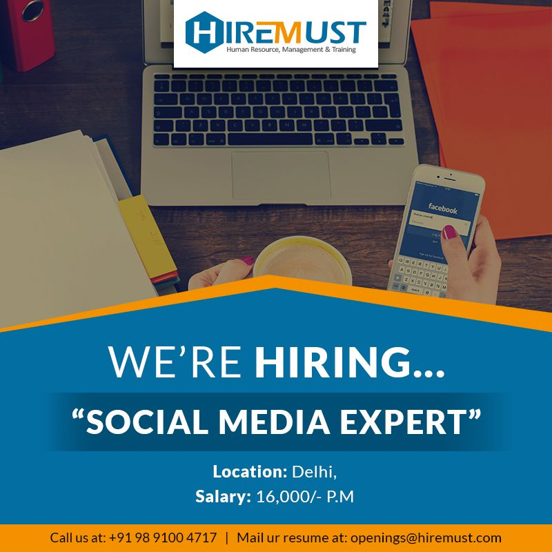 Urgently Required Social Media Expert Salary ₹16,000.00