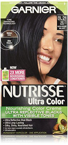 Garnier Nutrisse Ultra Color Nourishing Creme Bl21 Reflective Blue Black Undefined