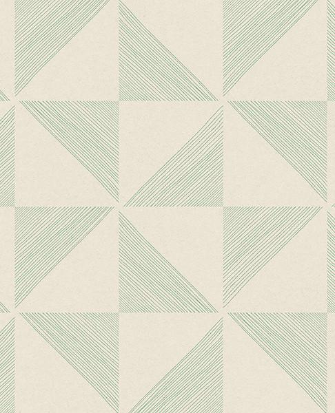 Mont Green Geometric Wallpaper