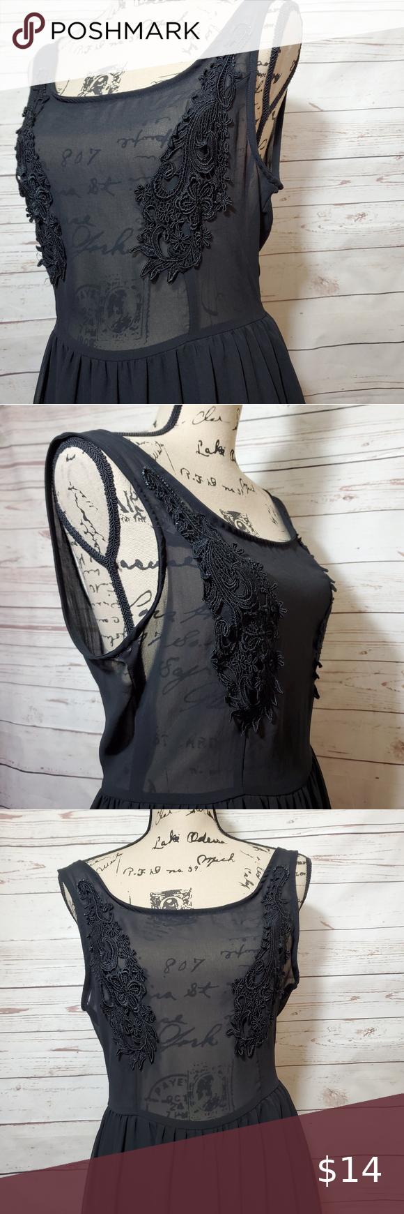 Tobi Sheer Top Black Dress Size Large Sheer Top Black Dress Large Size Dresses Black Dress [ 1740 x 580 Pixel ]