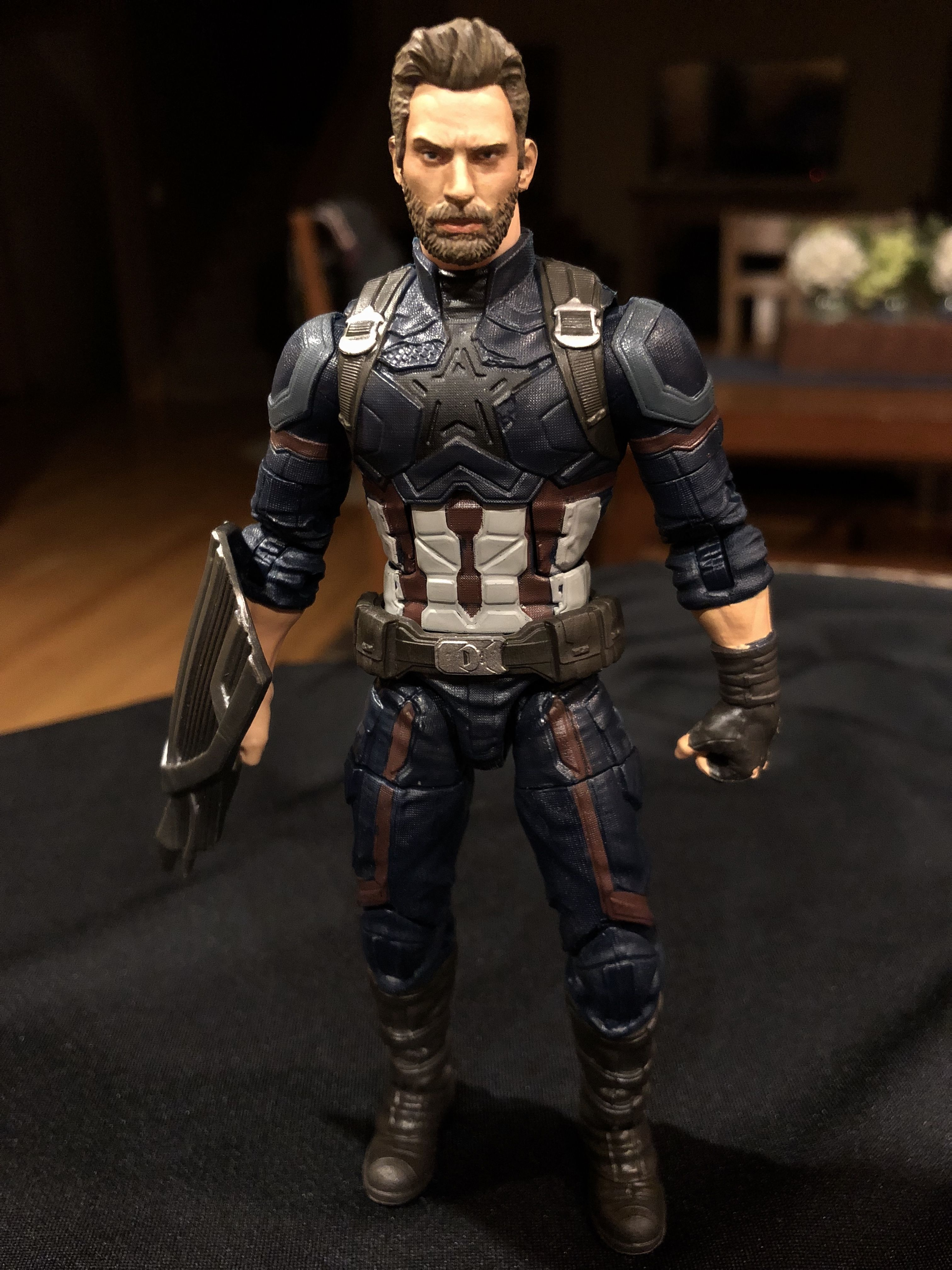 Captain America Infinity War Marvel Legends Custom Repaint Action