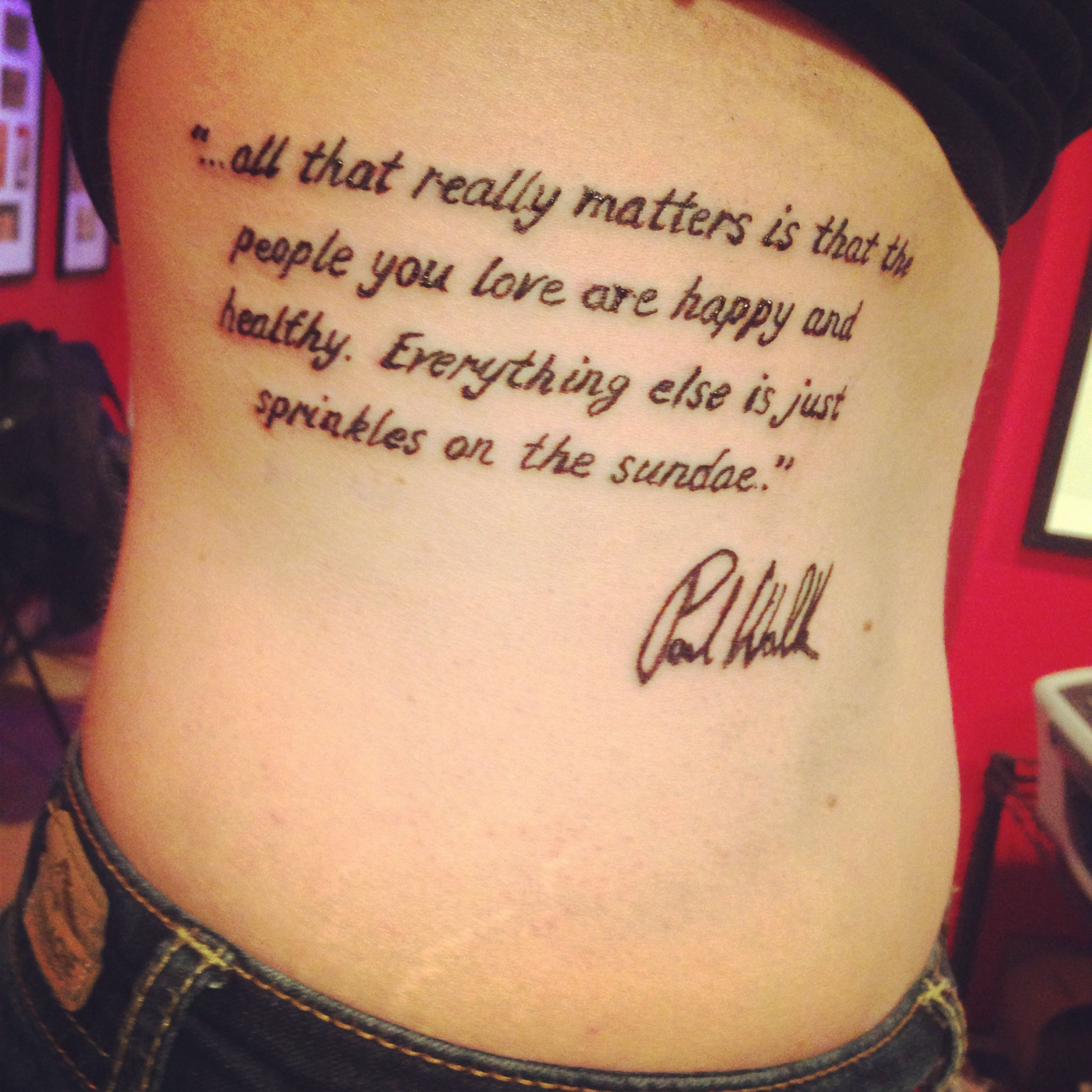 Paul Walker Quotes Tattoo