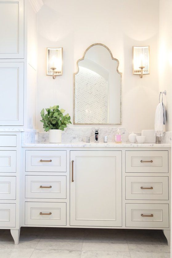 Old Sea Groves Home Bathroom With Arched Mirrors Bathroom Inspiration Moroccan Bathroom Girls Bathroom