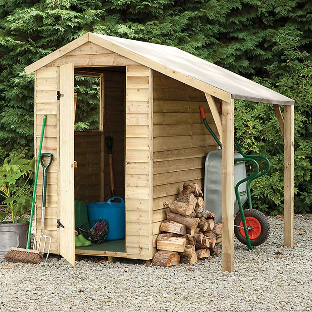 I Like The Lean To Idea Forest Garden 6 X 4 Overlap Shed