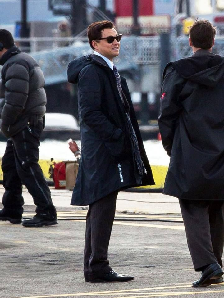 72e9346a1cd Leonardo DiCaprio on the set of The Wolf of Wall Street