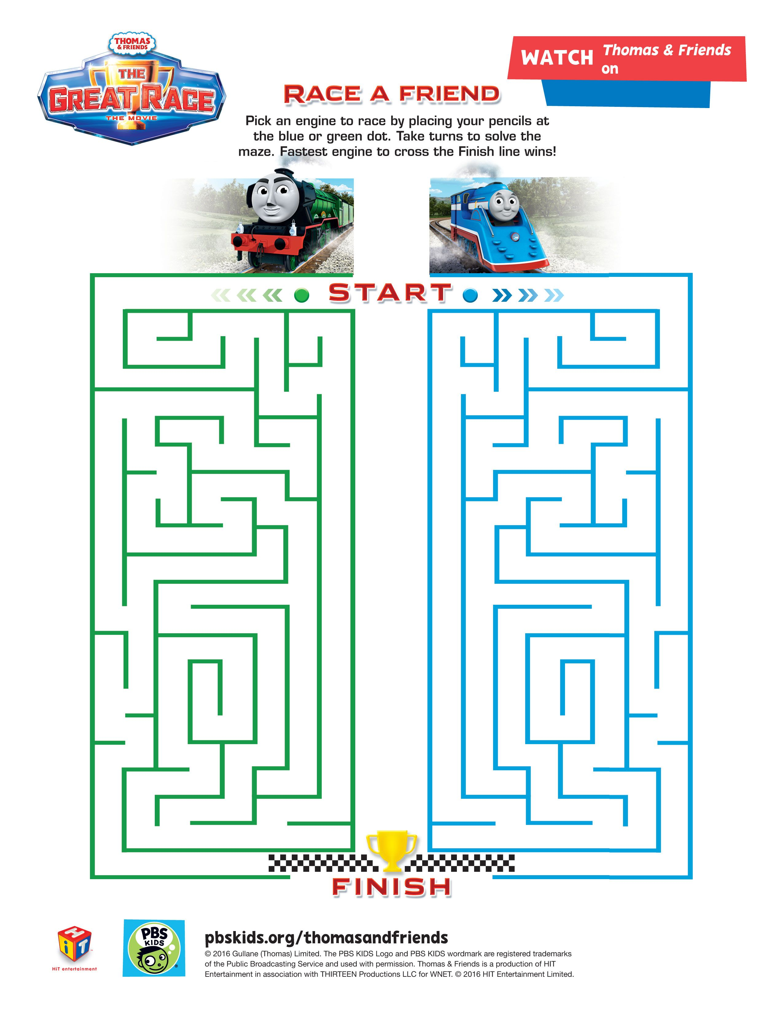 A Thomas Amp Friends Maze From The Great Race