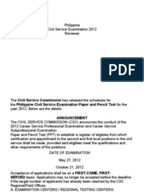 Civil Service Exam Reviewer 2013 Pdf