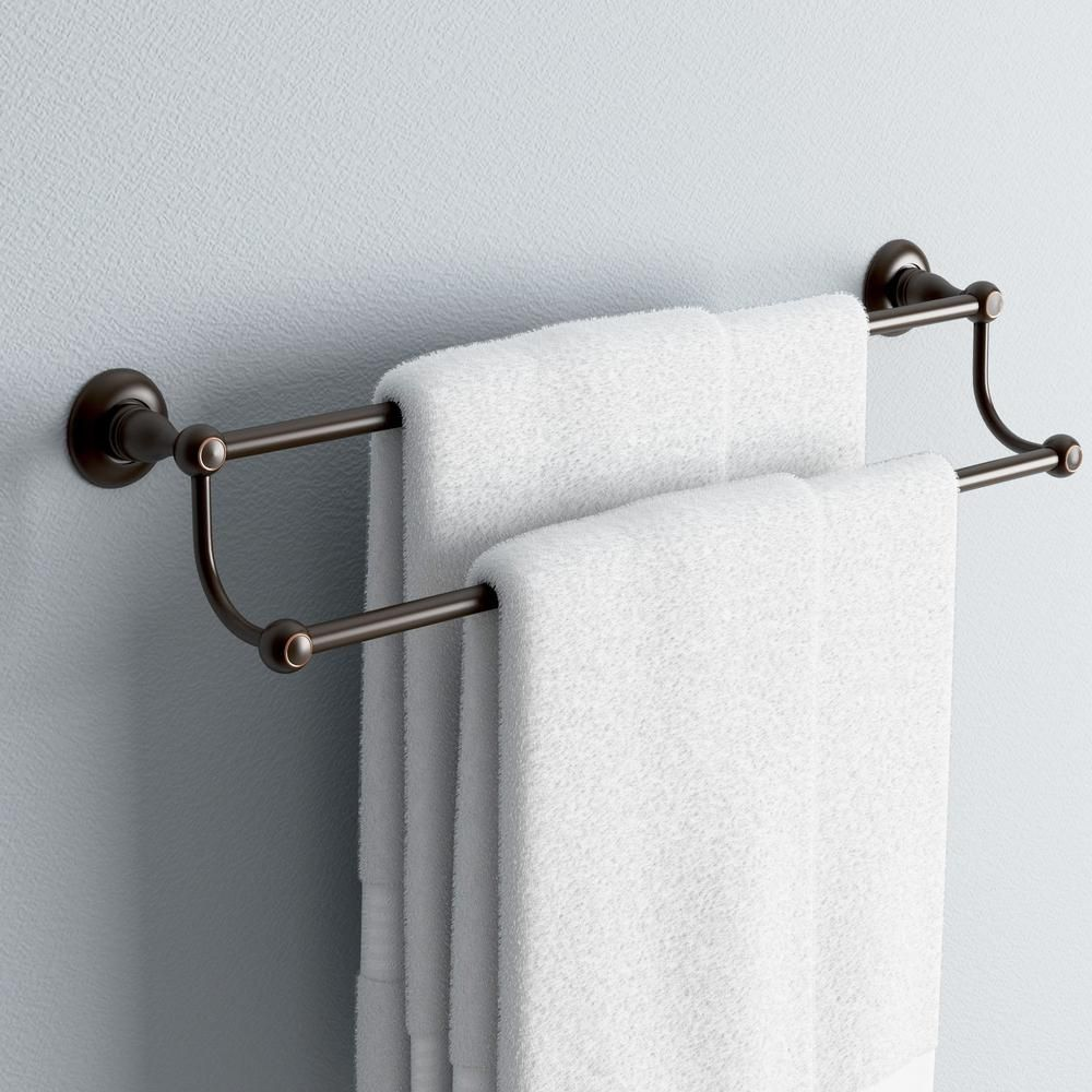 Delta Porter 24 In Double Towel Bar In Oil Rubbed Bronze 78425
