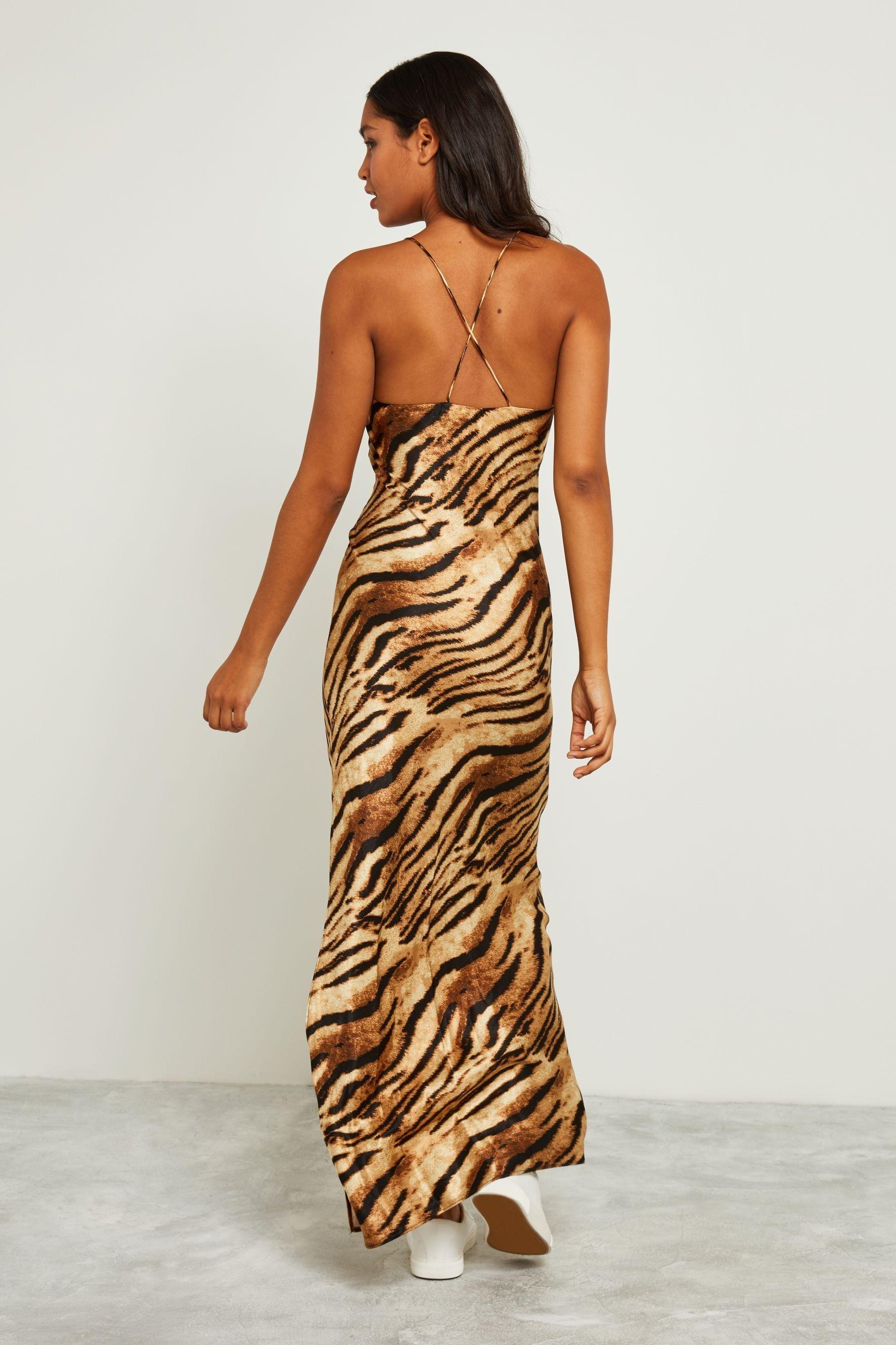 Buy F F Multi Tiger Strappy Maxi Dress From The Next Uk Online Shop Strappy Maxi Dress Maxi Dress Dresses [ 2700 x 1800 Pixel ]