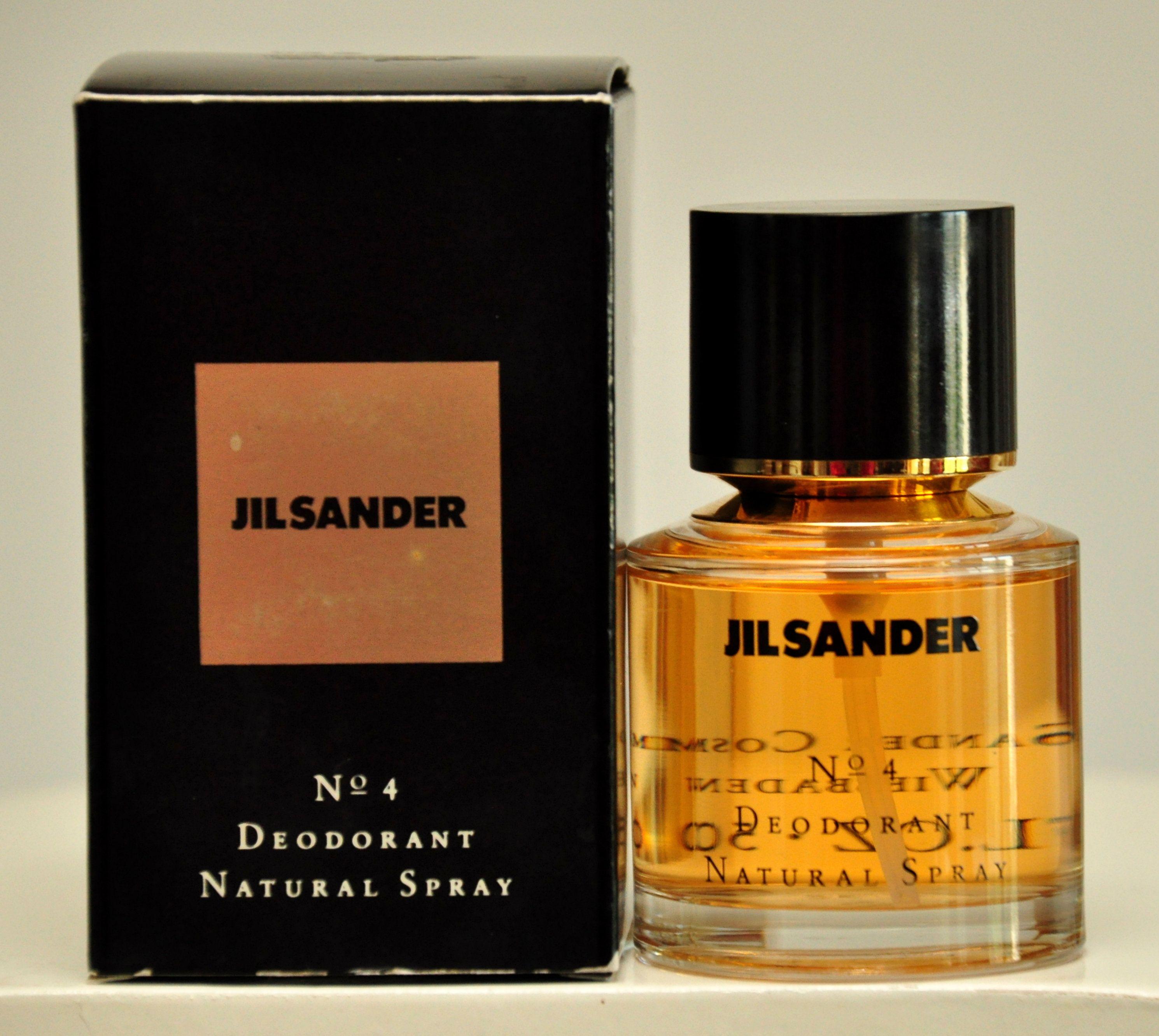 Jil Sander No 4 Deodorant Natural Spray 50ml 1 7 Fl Oz Perfume Deodorant Woman Super Rare Vintage 1990 Natural Deodorant Deodorant Perfume