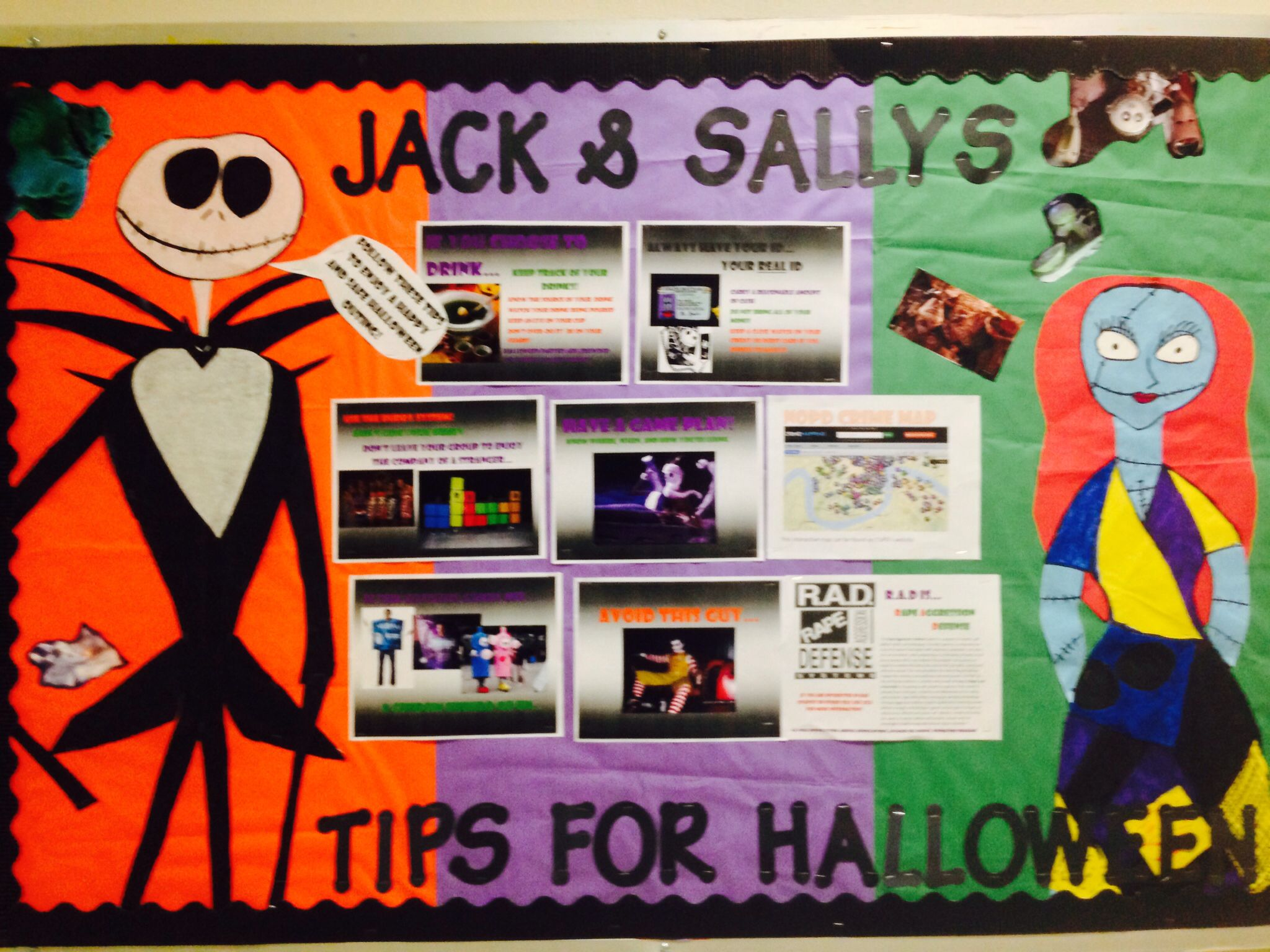 Halloween party safety for college students! Bulletin board from ...