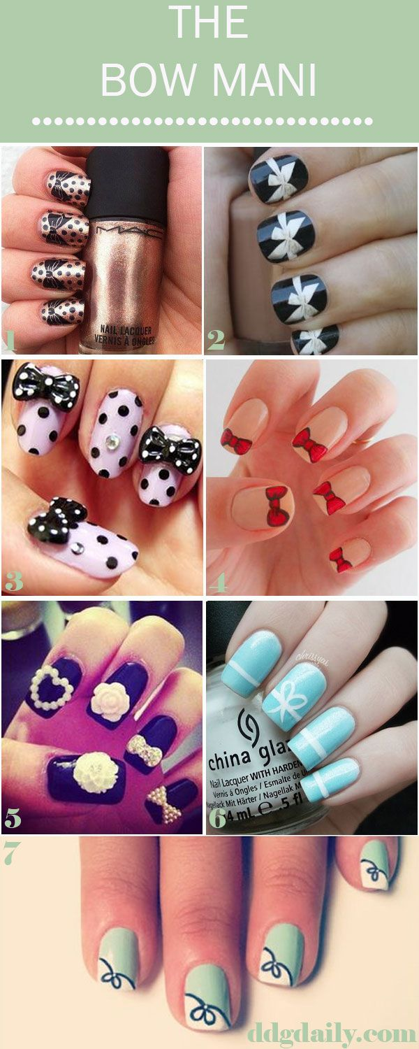 Put A Bow On It A Ddg Moodboard Full Of Super Sweet Nail Art Easy