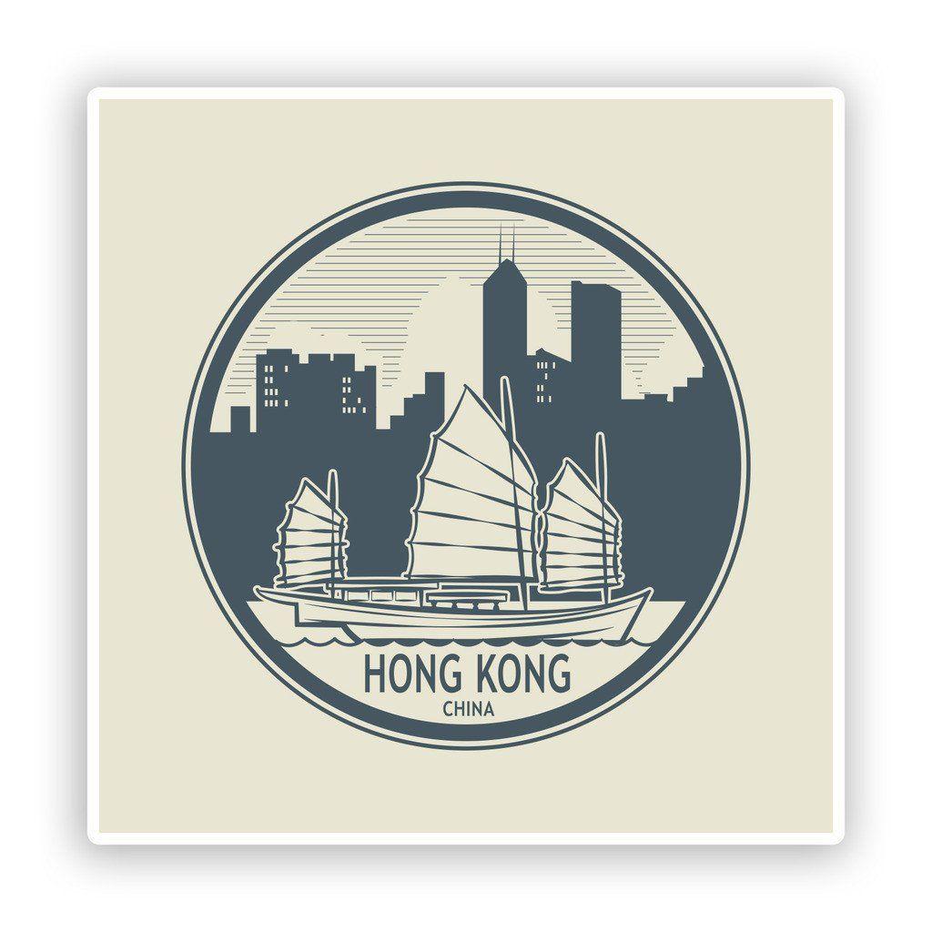X Hong Kong China Vinyl Stickers Travel Luggage Stickers - Custom vinyl stickers hong kong