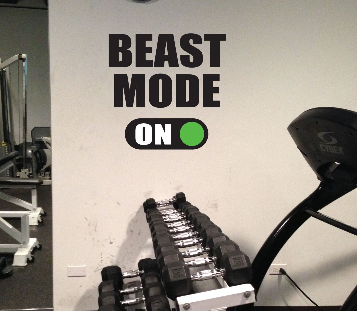 Sticker gym wall - Home Gym Decor Beast Mode On Gym Wall Art Vinyl By Jandicographix 36 00