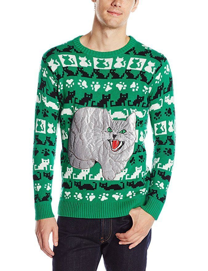 Ugly Christmas Sweater, Mean Kitty, Cat, Christmas Sweater, New, XXL ...