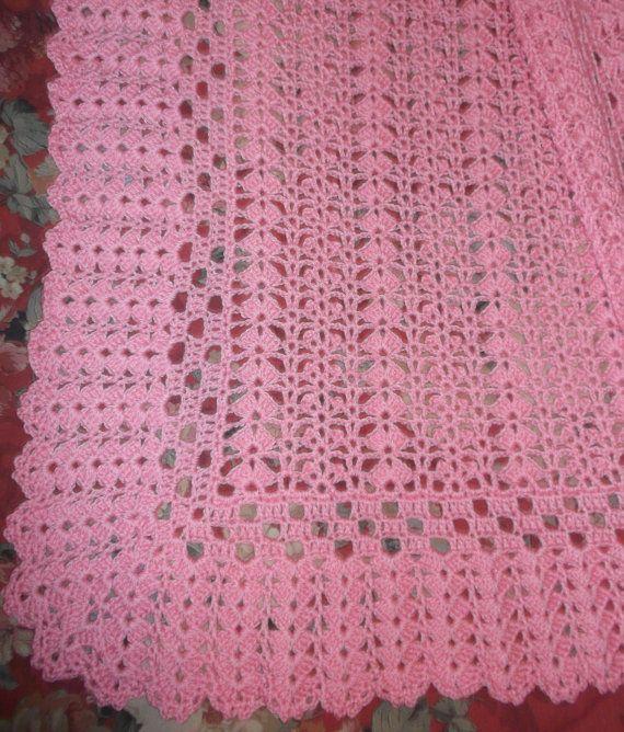 Rosa ganchillo afgano de bebé bk121 | BEBE | Pinterest | Ganchillo ...