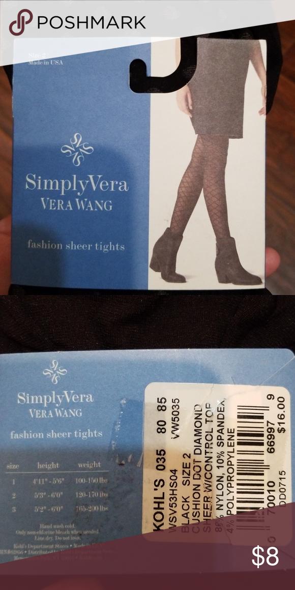 051c2d4334173 Vera Wang tights sz 2 Black with dots. New. Fits 5'3-6'0, 120-170 lbs. No  trades. Simply Vera Vera Wang Accessories Hosiery & Socks
