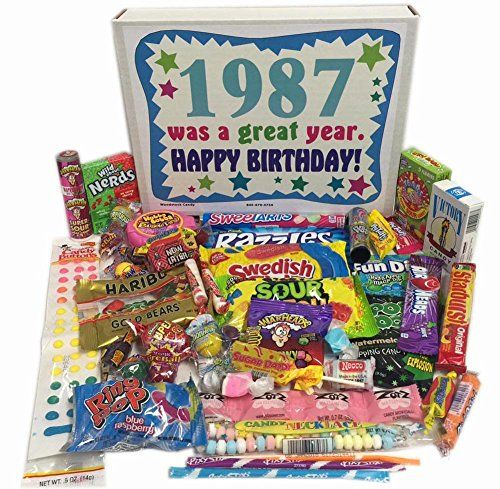 30th Birthday Gift Box Of Retro Nostalgic Candy From Childhood For Men And Women 30 Years Old Born 1987 Continue With The Details At Image Link