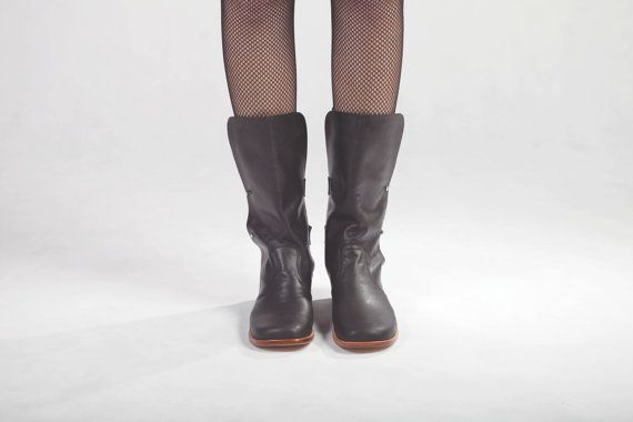 Boots Black Calf Leather